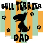 Bull Terrier Dad - Green/Orange Stripe