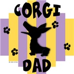 Welsh Corgi Dad - Yellow/Purple Stripe