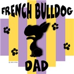 French Bulldog Dad - Yellow/Purple Stripe
