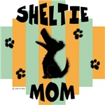 Sheltie Mom - Green/Orange Stripe