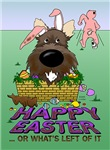 Dark Cairn Terrier - Happy Easter