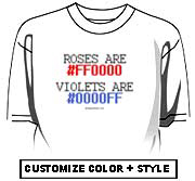 Roses are red (#FF0000)