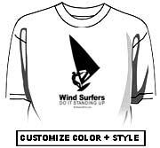 Windsurfers do it standing up