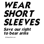 wear short sleeves