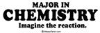 Major in Chemistry: Imagine the reaction