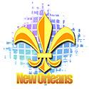 New Orleans Fluer de lis