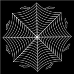 Gothic Spider Web and Bats