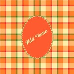 Veggie Plaid Personalize