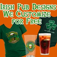 IRISH PUB Tshirts CUSTOMIZED