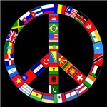 Peace Sign Made of Many Flags