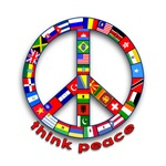 Peace Sign, International Flags
