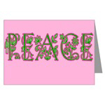 Peace in Florals, Pinks and Greens