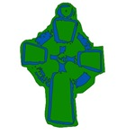 Celtic Cross in Green for Ireland