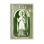 Irish Stamp Celebrating St. Patrick's Day