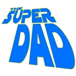 Futuristic Style Super Dad Tees and Mugs