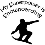 My Superpower is Snowboarding T-shirt, Gifts