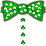 Funny Irish Bow Tie with Shamrocks
