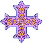 Pretty Violet Coptic Cross