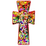 Pretty Stained Glass Look Cross