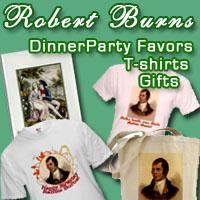 Robert Burns Scottish Poet T shirts