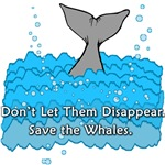 Save the Whales T shirts