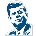 JFK Portrait in Blue