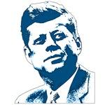 JFK Portrait in Blue