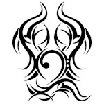 Bass Clef Tattoo tribal
