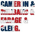 Cameron & Miliband & Farage & Clegg