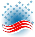 4th July - Independence Day - American Flag