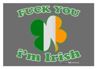 F You Im Irish Clover Flag