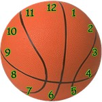 Basketball Clock (yellow, blue or green))