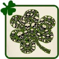 Irish Skulls Shamrock in Green