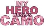 My Hero Wears Camo. Pink USMC