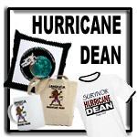 Hurricane Dean t shirts
