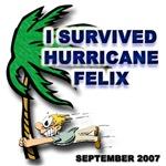 Hurricane Felix t-shirts