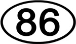 Number 86 Oval (Black)