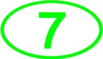 Number 7 Oval (Green)