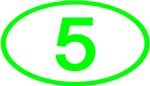 Number 5 Oval (Green)