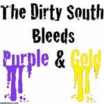 Dirty South Bleeds Purple & Gold
