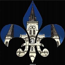 St Louis Cathedral Fleur De Lis