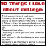 10 Things I Love about College
