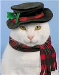 Snow-cat Christmas Cards