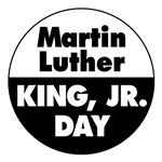 MARTIN LUTHER KING DAY: MLK (Round B&W)