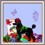 POODLE DOG ART
