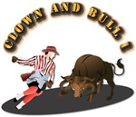 Clown and Bull 1-With-Text