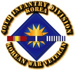 Army - 40th ID w Korean War SVC Ribbons