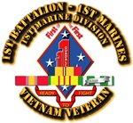 USMC - 1st Bn - 1st Marines w SVC Ribbons
