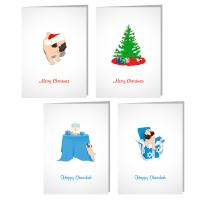 Pugables Holiday Cards
