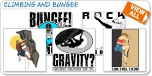 Climbing and Bungee T-shirts and Gifts